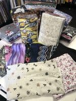 Assorted JERSEY COTTON Fabric Material Fat Quarters 1KG